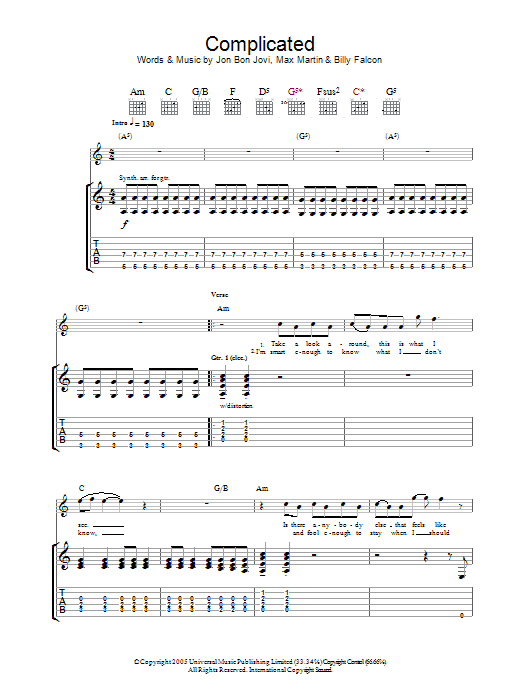Complicated Sheet Music
