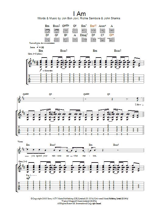 I Am (Guitar Tab)