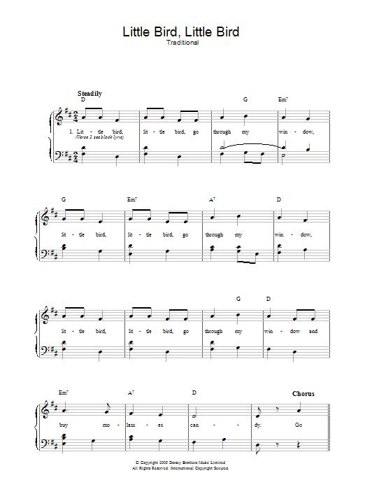 Little Bird, Little Bird (Piano, Vocal & Guitar)