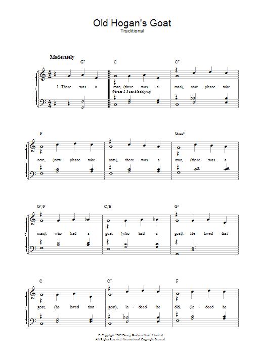 Old Hogan's Goat (Piano, Vocal & Guitar)