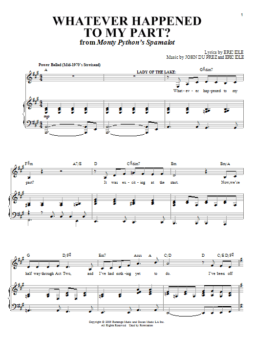 Whatever Happened To My Part? Sheet Music