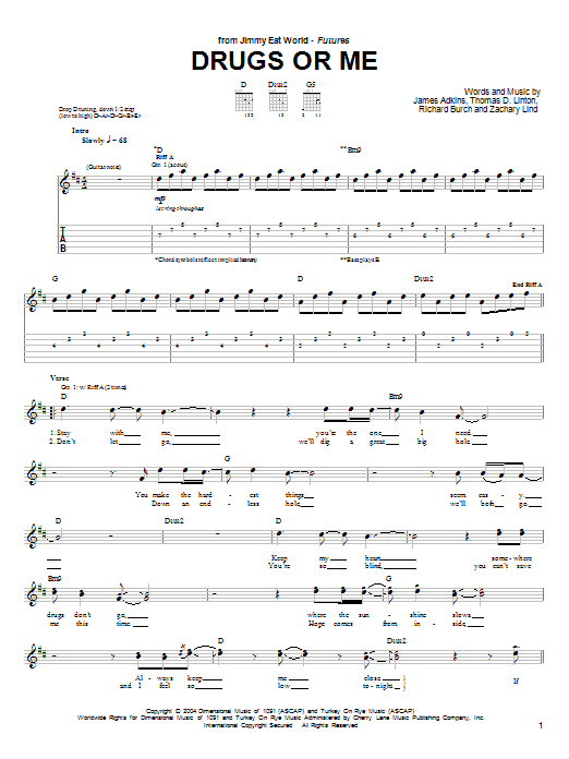 Drugs Or Me Sheet Music