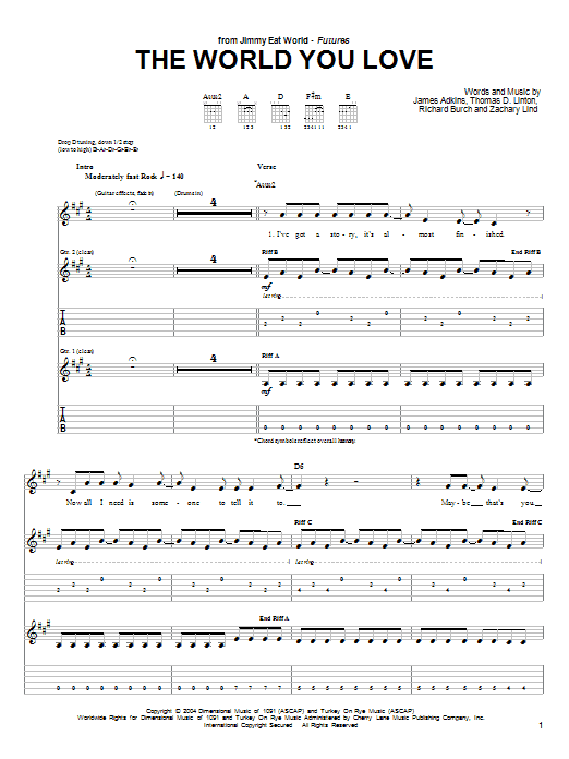 The World You Love Sheet Music