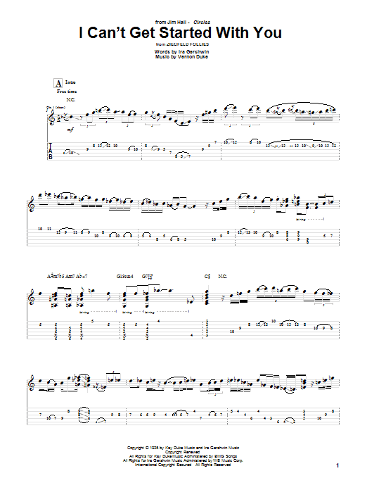 I Can't Get Started With You Sheet Music