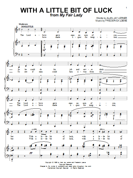 With A Little Bit Of Luck Sheet Music