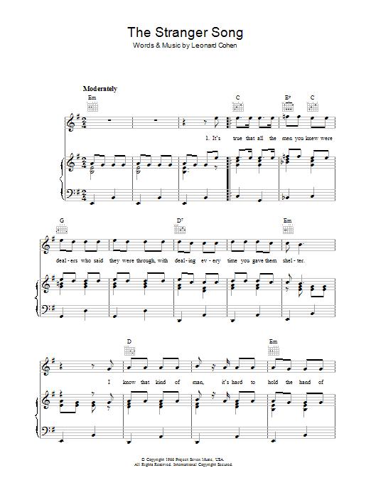 The Stranger Song (Piano, Vocal & Guitar)