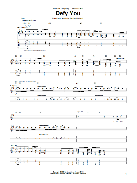 Defy You Sheet Music