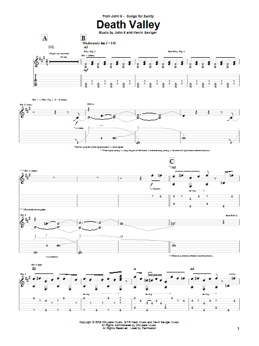 Death Valley (Guitar Tab)