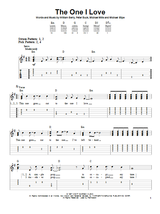 Mandolin u00bb Mandolin Tabs Losing My Religion - Music Sheets, Tablature, Chords and Lyrics