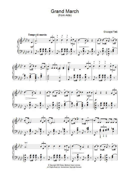 Grand March (from Aida) (Piano Solo)