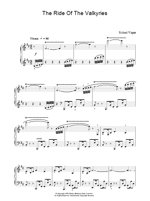 The Ride Of The Valkyries Sheet Music