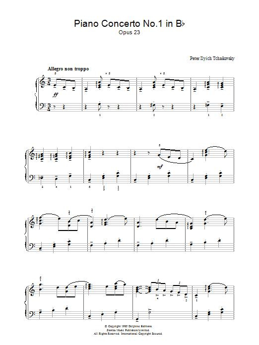 Piano Concerto No 1 in B Flat Minor, Opus 23 (Piano Solo)
