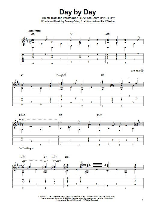 Day By Day Sheet Music