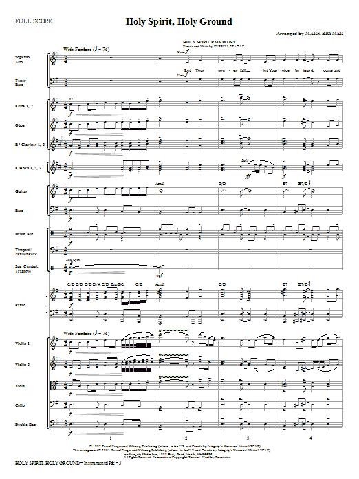 Holy Spirit, Holy Ground (Medley) - Full Score Sheet Music