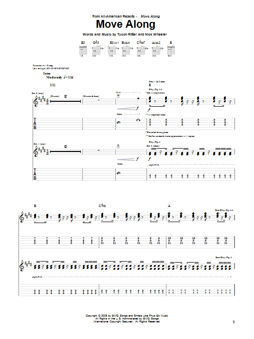 Move Along Sheet Music