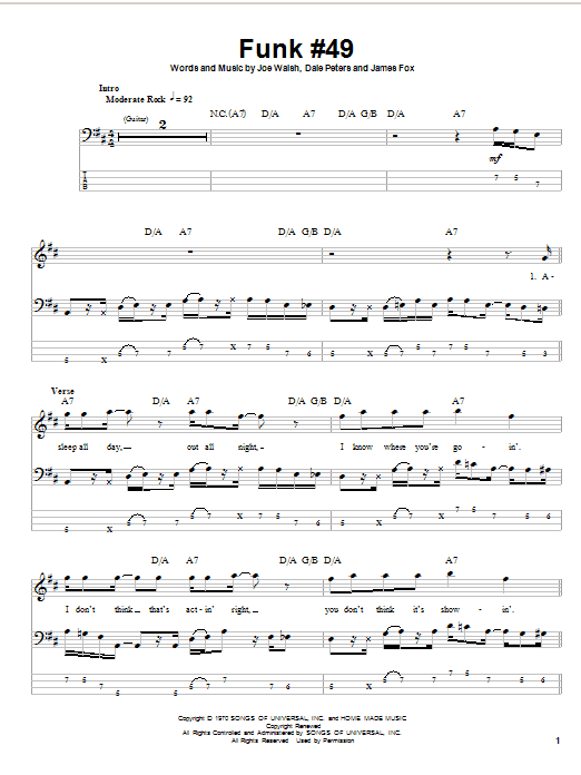 Funk #49 Partition Digitale