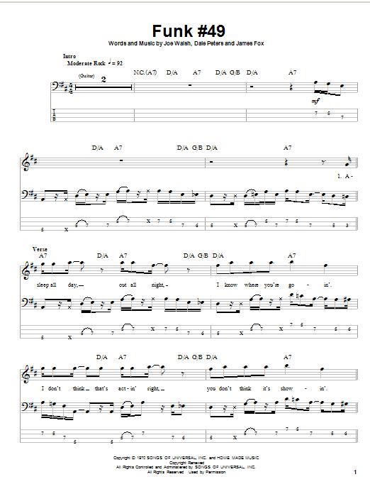 Funk #49 Sheet Music