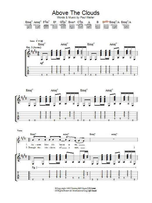 Above The Clouds (Guitar Tab)