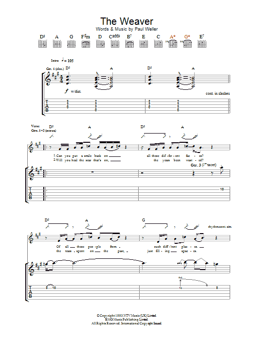 The Weaver (Guitar Tab)