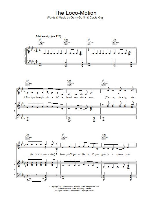 The Loco-Motion Sheet Music