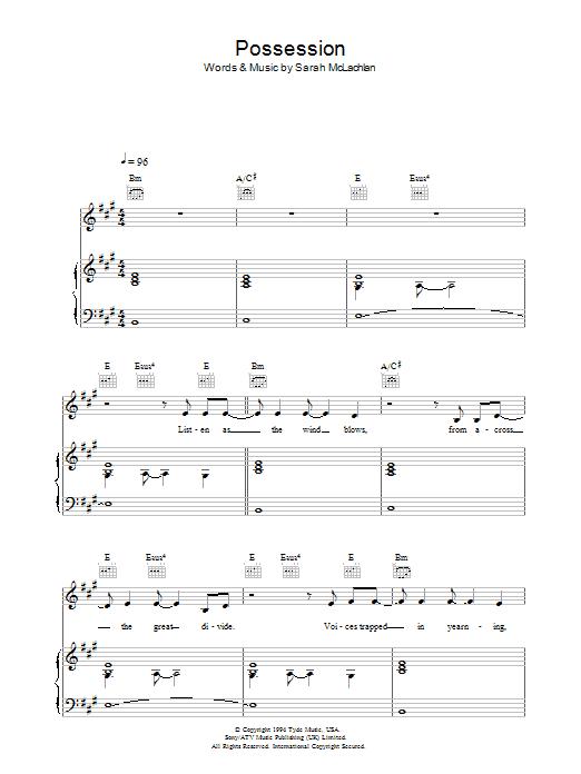 Possession Sheet Music
