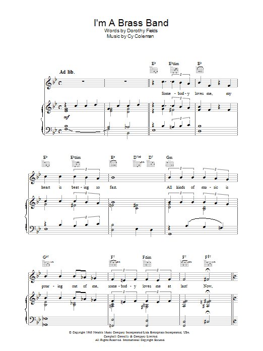 I'm A Brass Band (Piano, Vocal & Guitar)