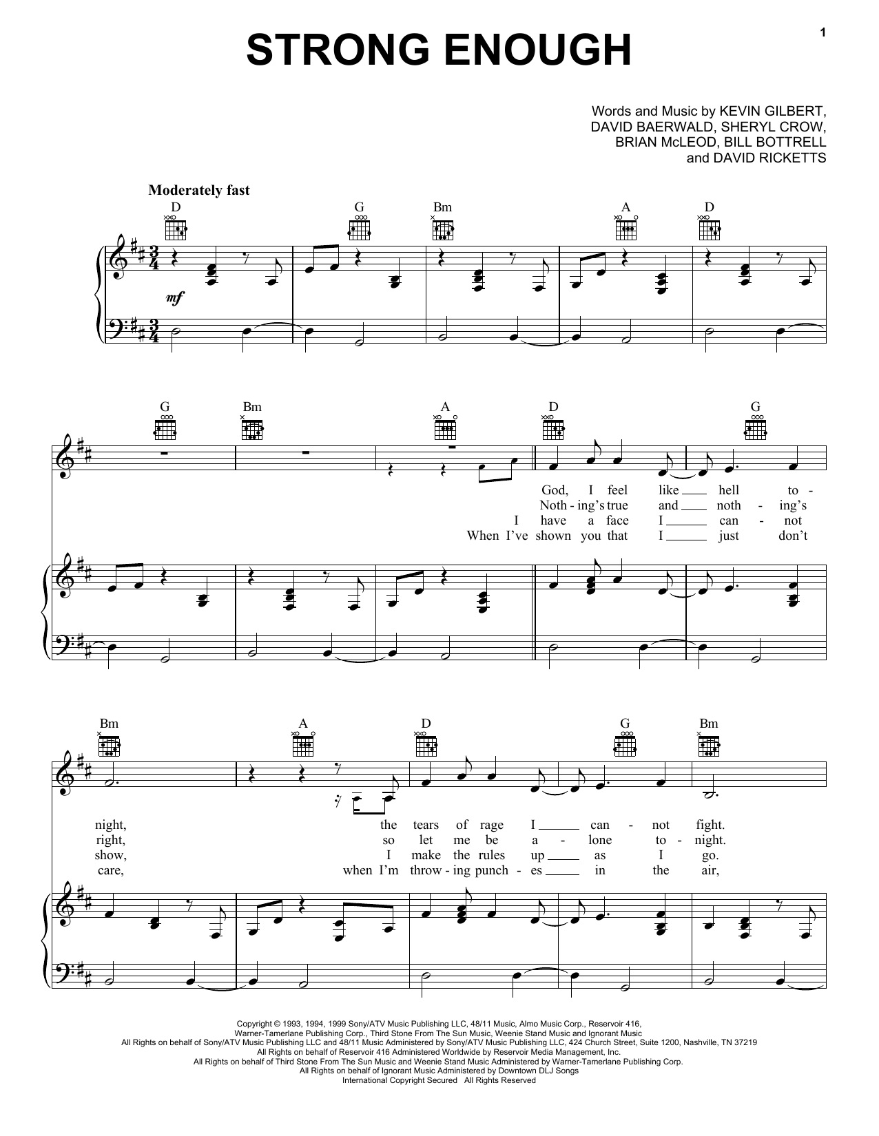 Strong Enough Sheet Music
