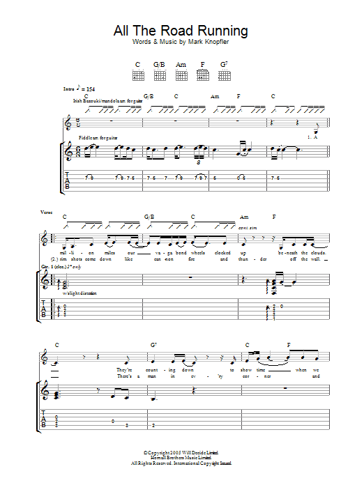 All The Road Running (Guitar Tab)