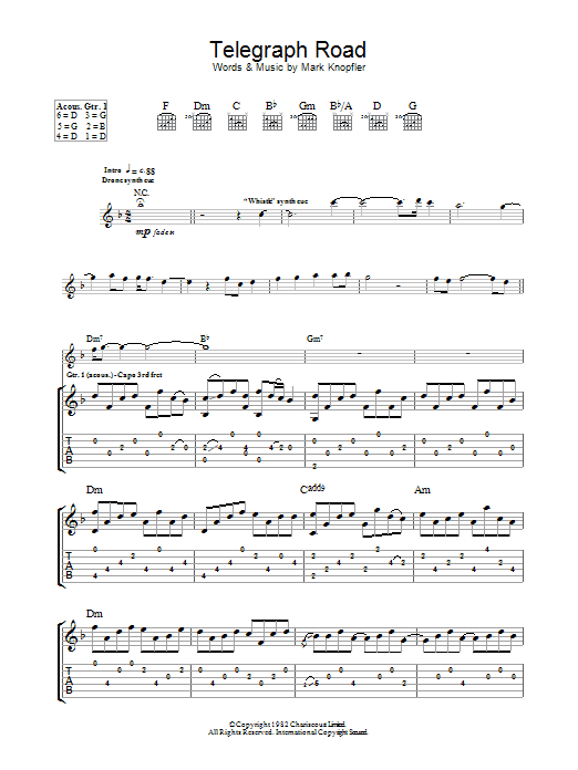 Telegraph Road Dire Straits Guitar Tab