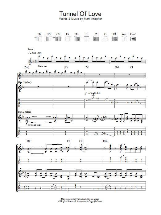 Tunnel Of Love (Guitar Tab)