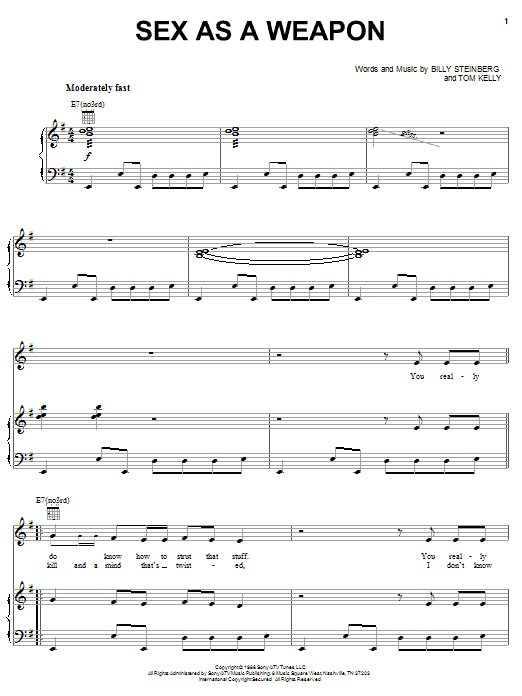 Sex As A Weapon (Piano, Vocal & Guitar (Right-Hand Melody))