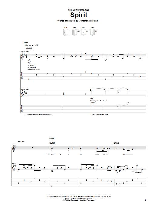 Spirit Sheet Music