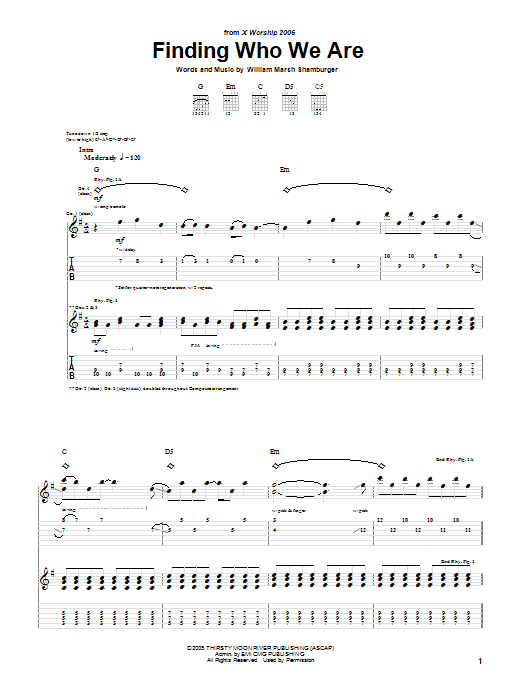 Finding Who We Are (Guitar Tab)
