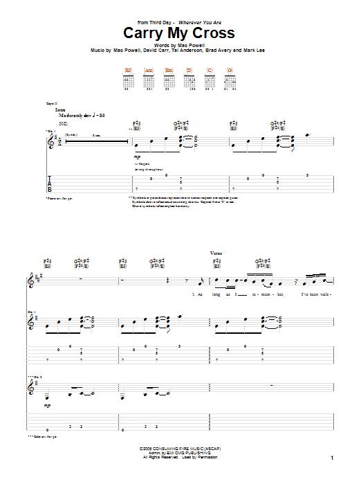 Carry My Cross (Guitar Tab)