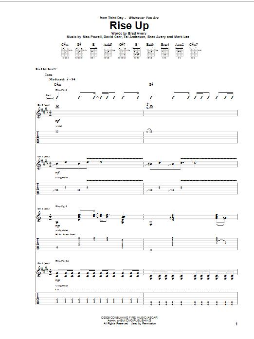 Rise Up (Guitar Tab)