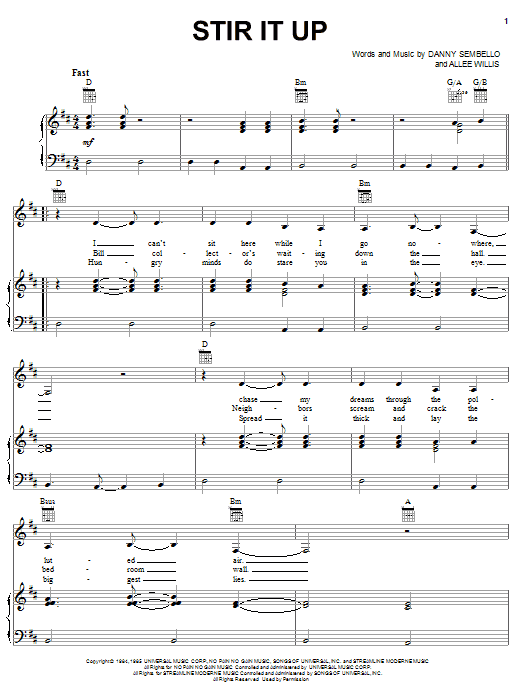 Stir It Up (Piano, Vocal & Guitar (Right-Hand Melody))