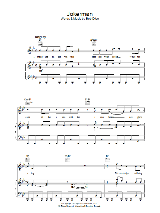 Jokerman Sheet Music