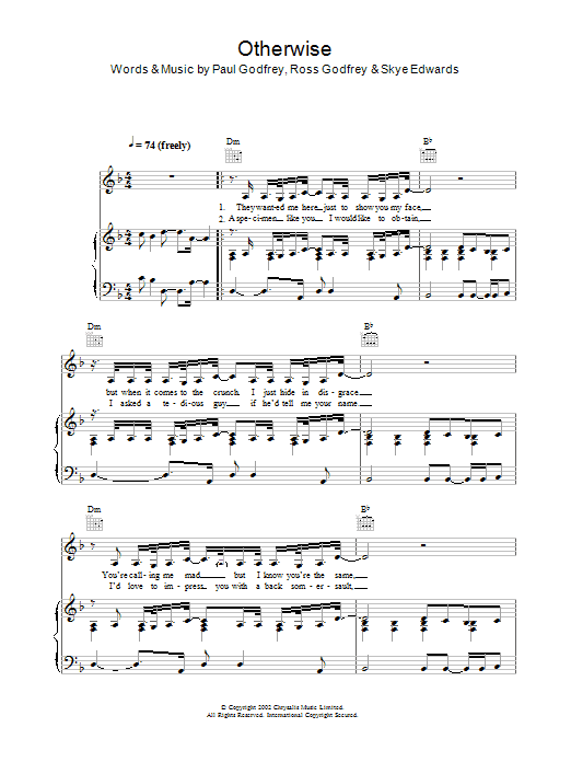 Otherwise Sheet Music