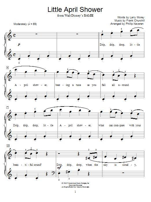 Partition piano Little April Shower de Frank Churchill - Autre