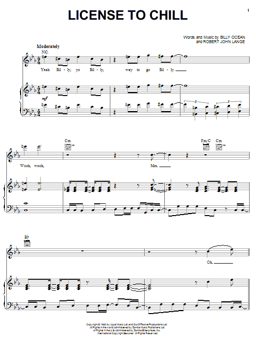 License To Chill Sheet Music