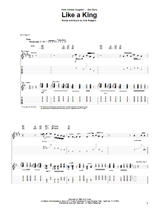 Like A King Sheet Music