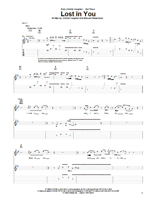 Lost In You (Guitar Tab)