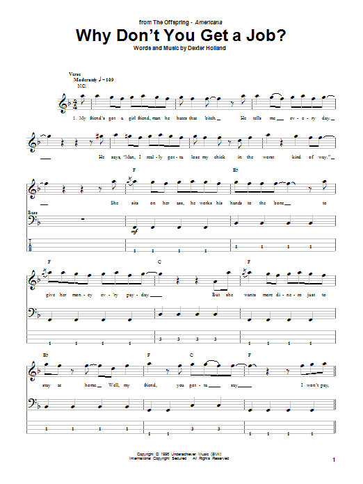 Why Don't You Get A Job? Sheet Music
