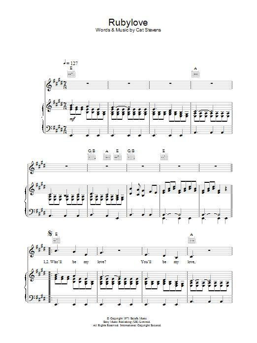 Rubylove Sheet Music
