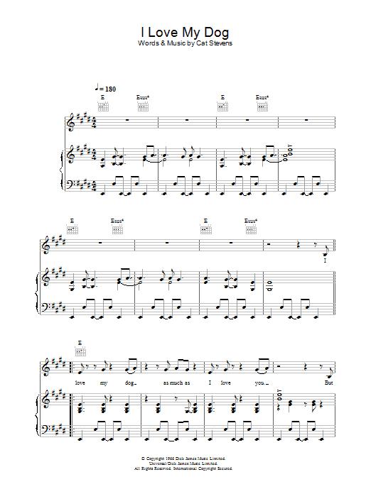 I Love My Dog (Piano, Vocal & Guitar)