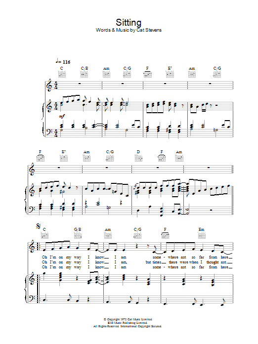 Sitting (from the musical 'Moonshadow') Sheet Music