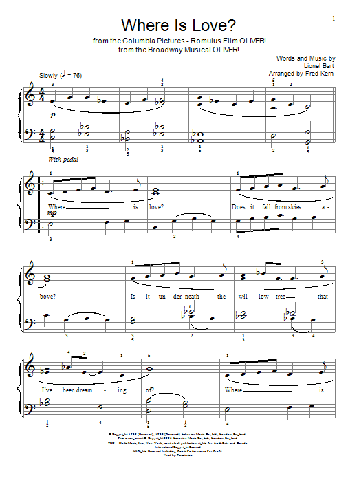 Where Is Love? (Educational Piano)