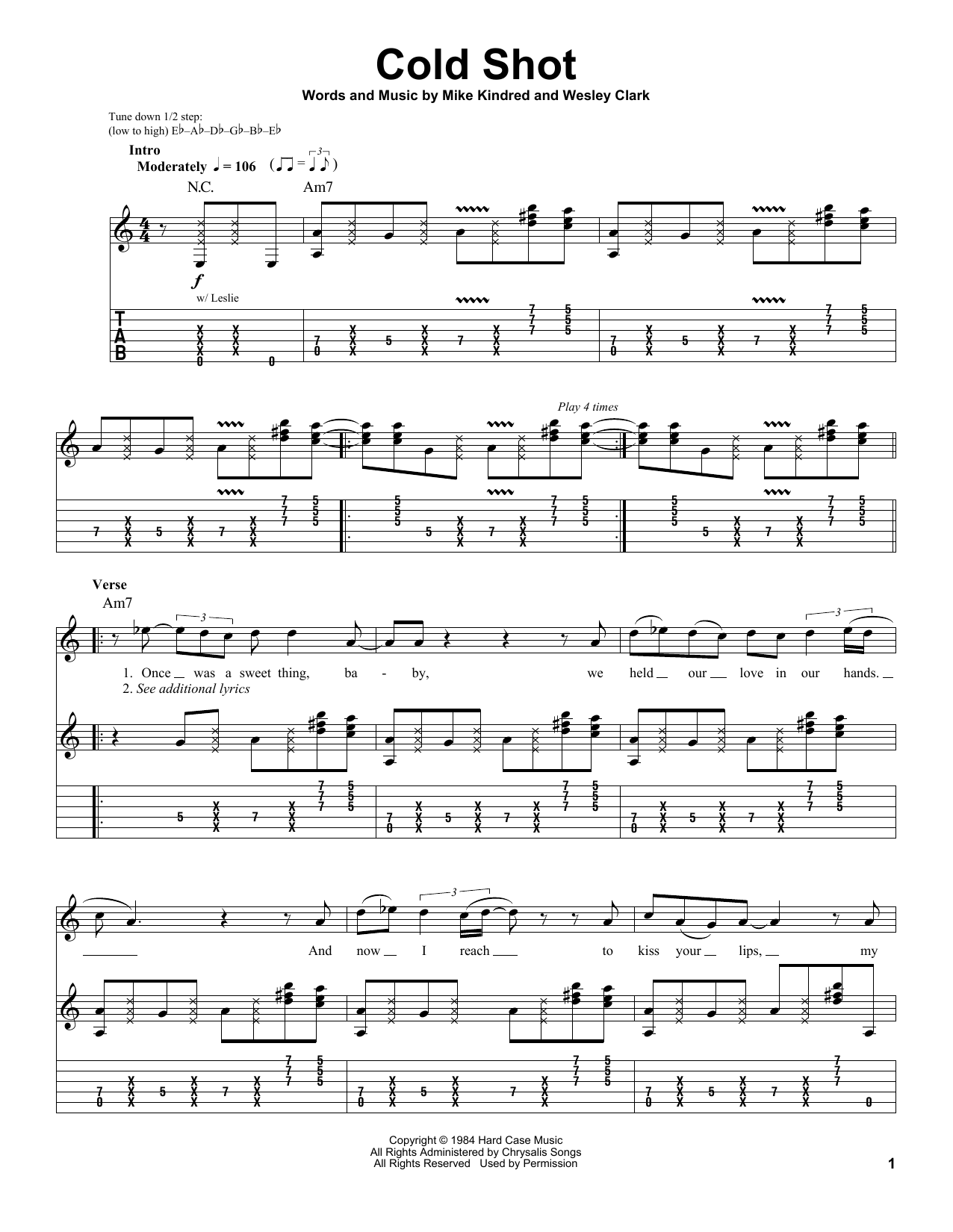 Cold Shot Sheet Music