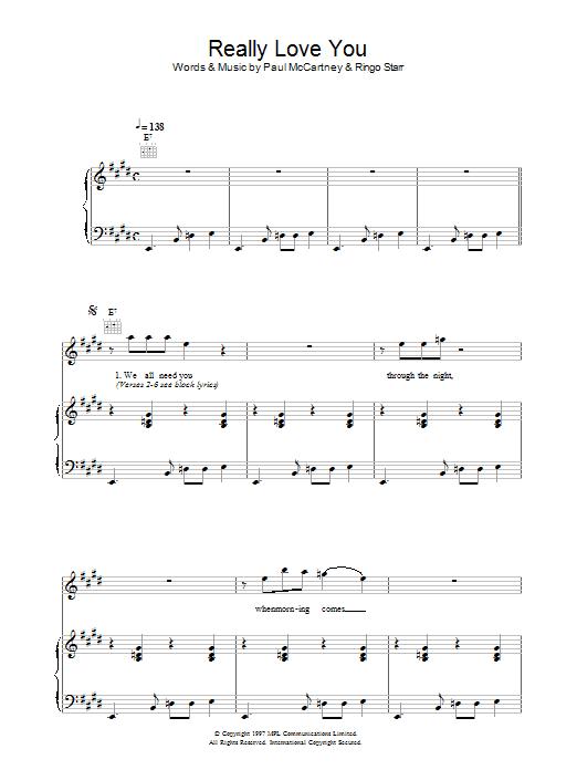 Really Love You (Piano, Vocal & Guitar)