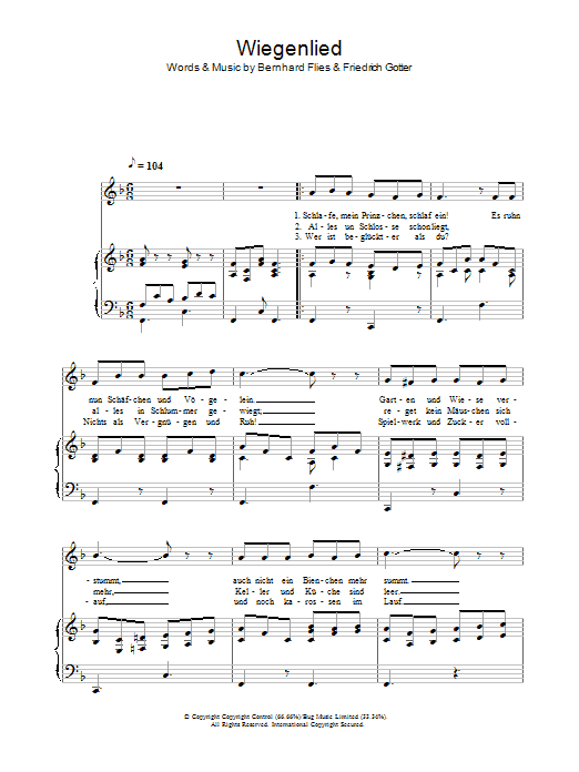 Wiegenlied Sheet Music
